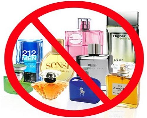 عدم استفاده از عطر